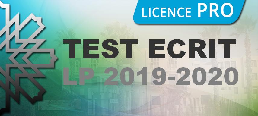 Inscription en licences  professionnelles  AU:2019-2020